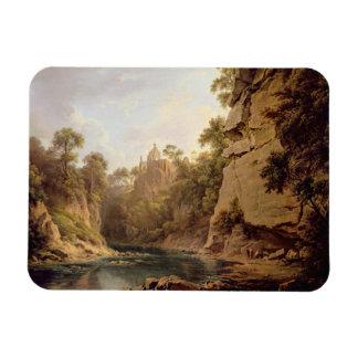 Hawthornden Castle, near Edinburgh, c.1820-22 (oil Vinyl Magnet