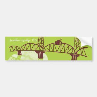 Hawthorne Bridge Bumper Sticker Car Bumper Sticker