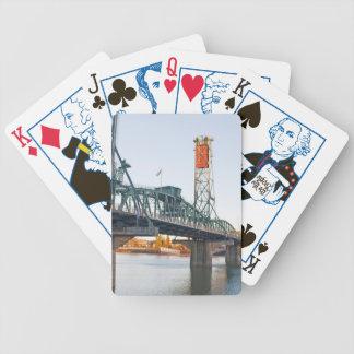 Hawthorne Bridge Portland Daytime Bicycle Playing Cards