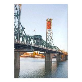 Hawthorne Bridge Portland Daytime Card
