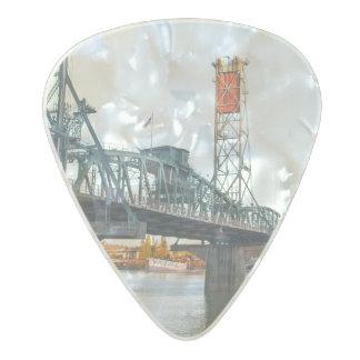 Hawthorne Bridge Portland Daytime Pearl Celluloid Guitar Pick