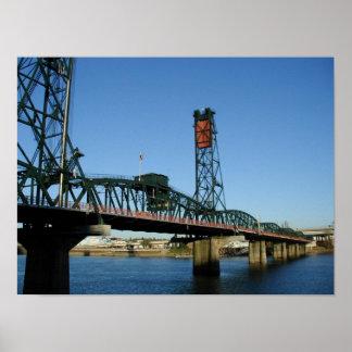 Hawthorne Bridge, Portland Oregon Poster