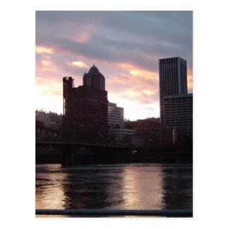 Hawthorne Bridge Portland Skyline Postcard