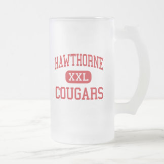 Hawthorne - Cougars - High - Hawthorne California Frosted Glass Beer Mug