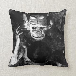 Haxan 1920s horror throw pillow