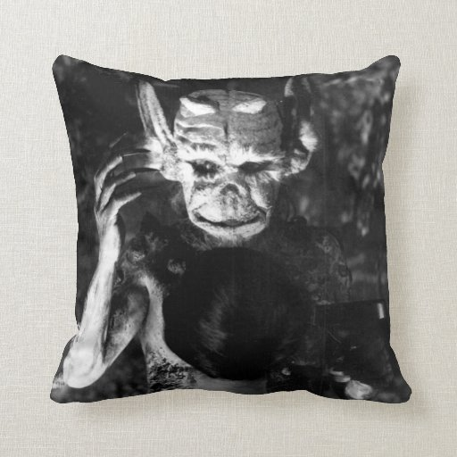 """Haxan"" 1920s horror Throw Pillow"