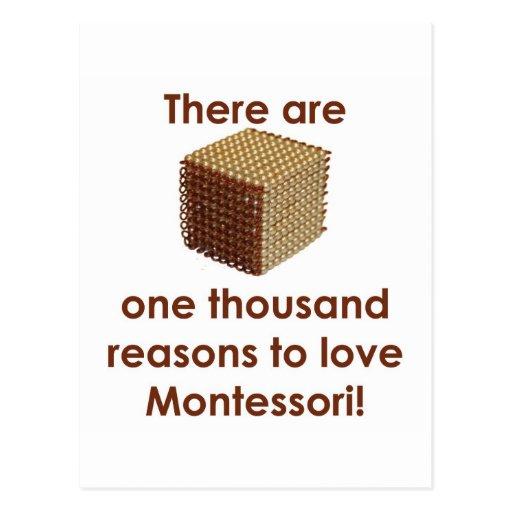 Hay 1000 razones para amar a Montessori Postal