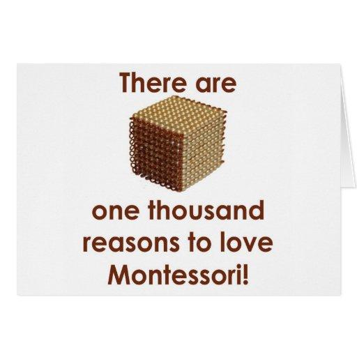Hay 1000 razones para amar a Montessori Tarjeta De Felicitación