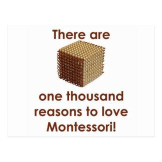 Hay 1000 razones para amar a Montessori Postales