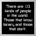 Hay 10 clases de gente en el mundo. Thos… Póster