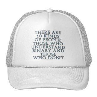 Hay 10 clases de gente… gorra