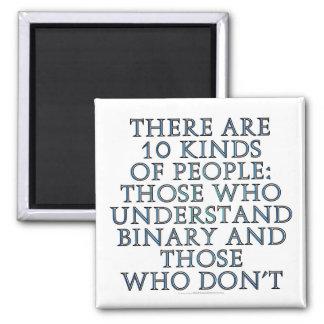Hay 10 clases de gente… imán cuadrado