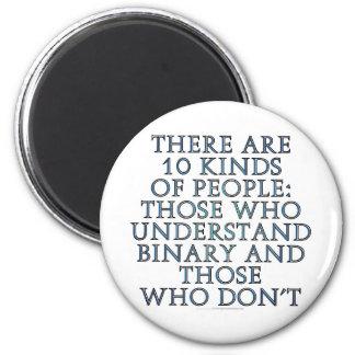 Hay 10 clases de gente… imán redondo 5 cm