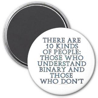 Hay 10 clases de gente… imán redondo 7 cm