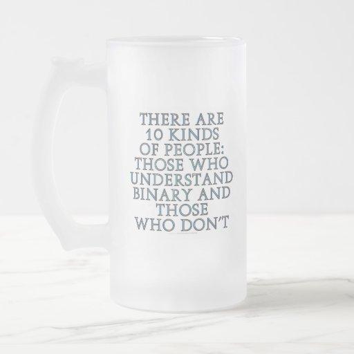 Hay 10 clases de gente… taza de cristal