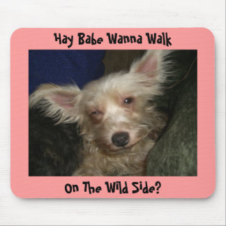 Hay Babe Wanna Walk, On The Wild Side? Mouse Pad