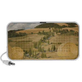 Hay bale and rolling landscape, Tuscany, Italy Travel Speaker