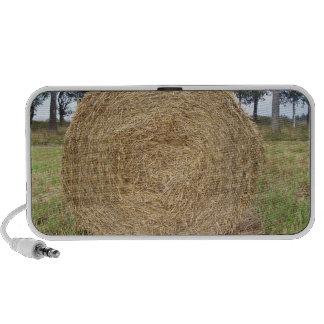 Hay bale in a field mini speakers