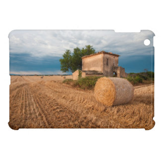 Hay bale in Provence field Case For The iPad Mini