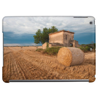 Hay bale in Provence field iPad Air Covers
