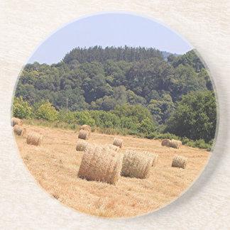 Hay bales along El Camino, Spain Coasters