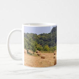 Hay bales along El Camino, Spain Coffee Mug