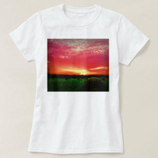 Hay Bales at Sunset Photo T-Shirt