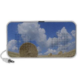 Hay Bales in Field, Pienza, Val d'Orcia, Siena Portable Speaker