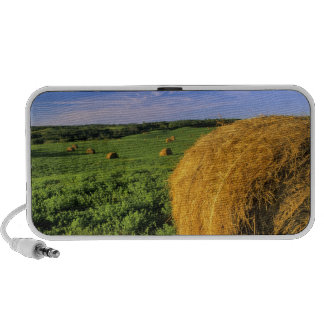 Hay Bales near Bottineau North Dakota Laptop Speaker