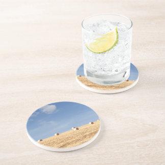 Hay Bales on Field Drink Coasters