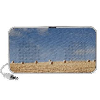 Hay Bales on Field Portable Speakers