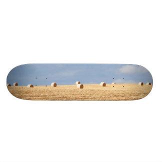 Hay Bales on Field Skateboard Deck