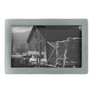 Hay Barn Rectangular Belt Buckles