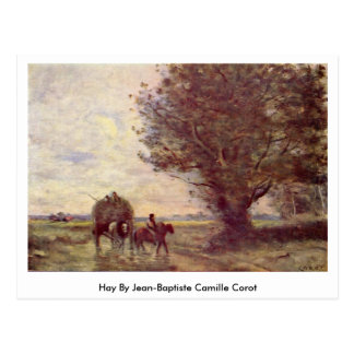 Hay By Jean-Baptiste Camille Corot Postcard