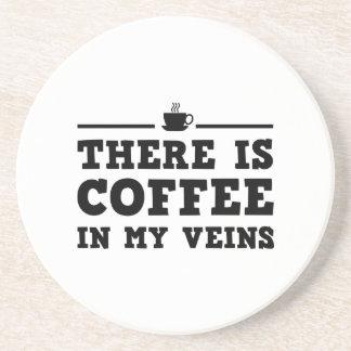 Hay café en mis venas posavasos personalizados