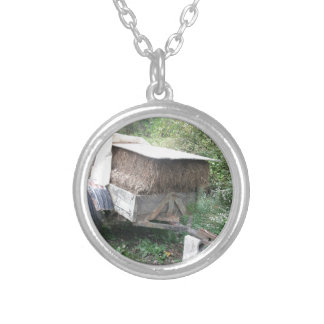 Hay Cart Silver Plated Necklace