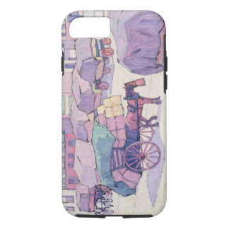 Hay Carts, Cumberland Market (oil on canvas) iPhone 8/7 Case
