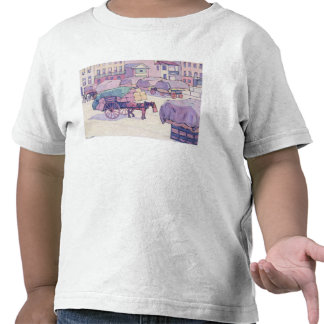 Hay Carts, Cumberland Market (oil on canvas) T Shirt