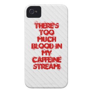 Hay demasiada sangre en mi corriente del cafeína iPhone 4 protector