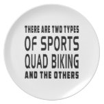Hay dos tipos de Biking del patio de los deportes Plato De Cena