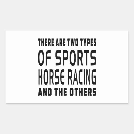 Hay dos tipos de carrera de caballos de los rectangular pegatina