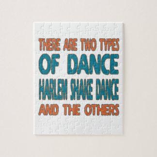 Hay dos tipos de danza de la sacudida de Harlem de Rompecabeza Con Fotos