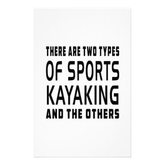 Hay dos tipos de deportes Kayaking Papelería De Diseño