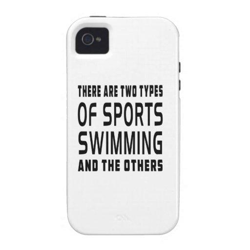 Hay dos tipos de deportes que nadan iPhone 4 carcasas