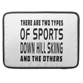 Hay dos tipos de esquí de la colina de los deporte funda para macbooks