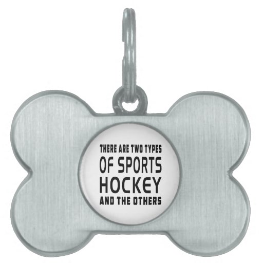 Hay dos tipos de hockey de los deportes placa mascota