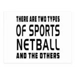 Hay dos tipos de Netball de los deportes Tarjetas Postales