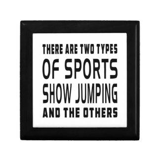 Hay dos tipos de salto de la demostración de los d caja de joyas