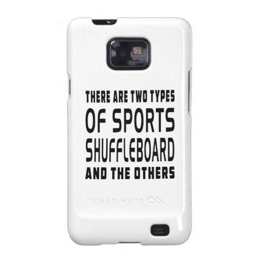 Hay dos tipos de Shuffleboard de los deportes Samsung Galaxy S2 Fundas