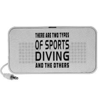 Hay dos tipos de zambullirse de los deportes y del portátil altavoz